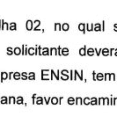 Resposta da PMSCS sobre Contrato ENSIN