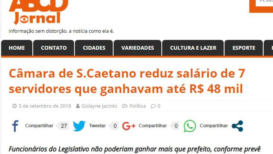 Redução Salarial na Câmara Municipal de São Caetano do Sul