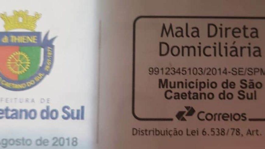 Distribuição do Informativo da PMSCS via Correios