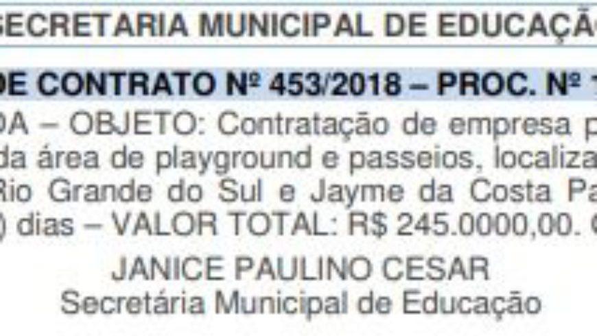 Solicitação de Contrato Sobre Escola na Praça