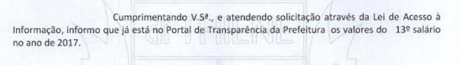 Ofício 649/2019 sobre 13º FUABC 2017