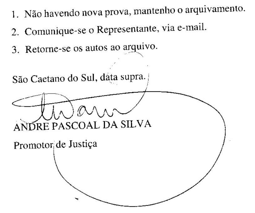 Conclusos Dr. Andre Pascoal da Silva sobre novos fatos da Câmara SCS